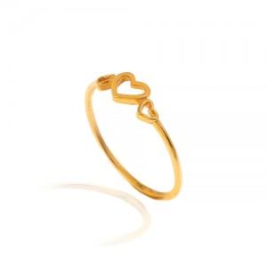 انگشتر طلا طرح قلب کد CR501