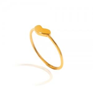 انگشتر طلا طرح قلب کد CR502