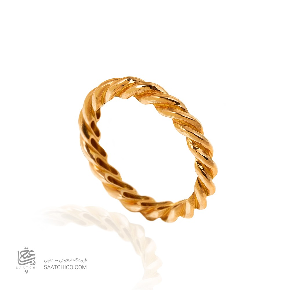 انگشتر طلا طرح پیچ کد CR504