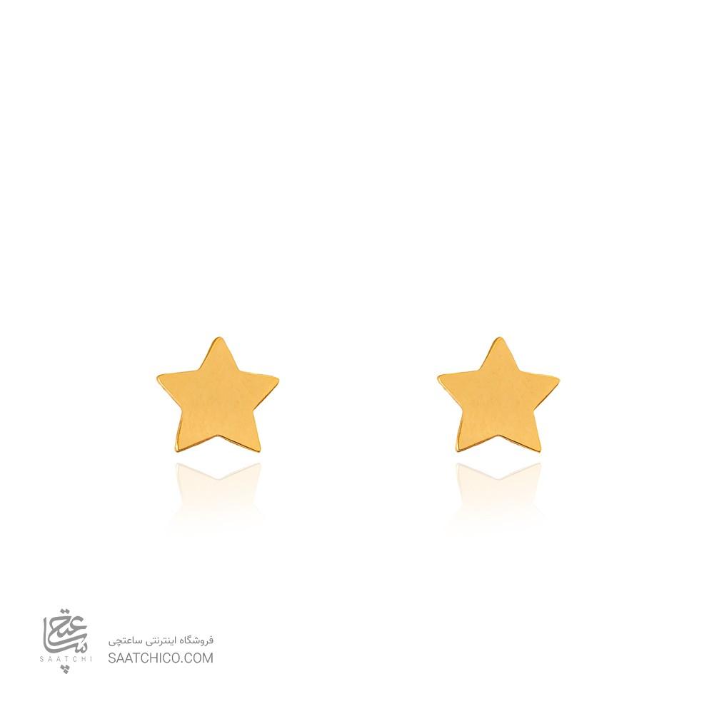 گوشواره میخی طلا طرح ستاره کد LE673