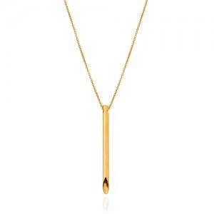 گردنبند طلا با آویز طرح قلم کد CN456