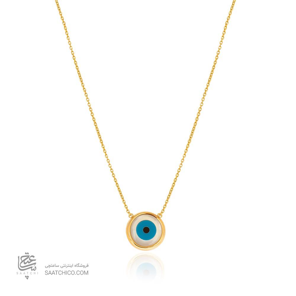 گردنبند طلا با پلاک چشم نظر کد CN459