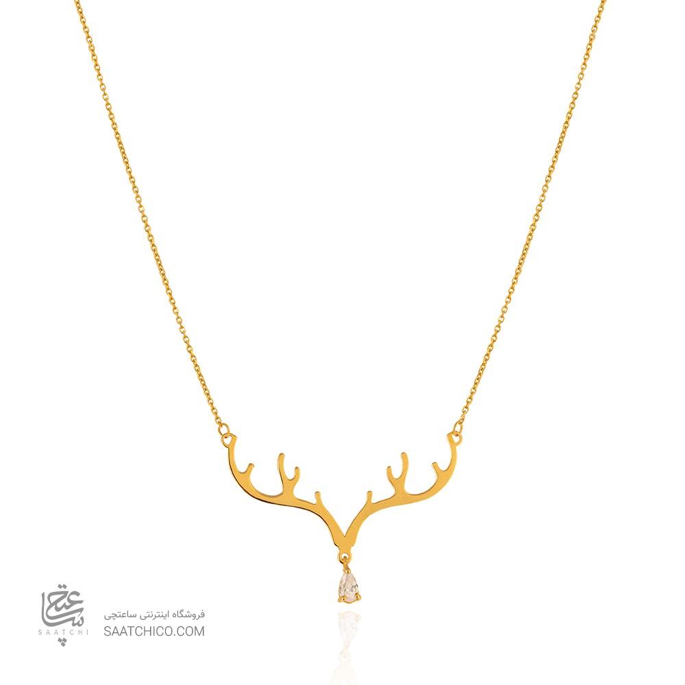 گردنبند طلا طرح شاخ گوزن کد LN877