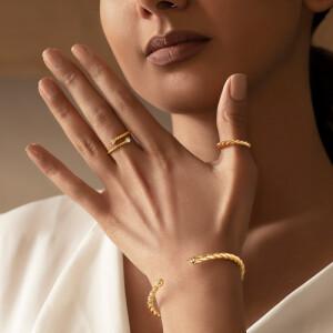 دستبند النگویی طلا طرح دیوید یورمن کد CB439