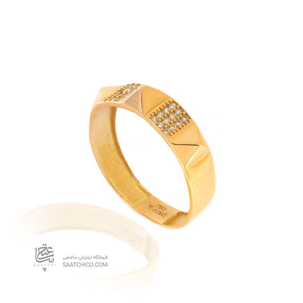 انگشتر طلا طرح هرمس کد CR508