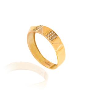 انگشتر طلا طرح هرم کد CR508
