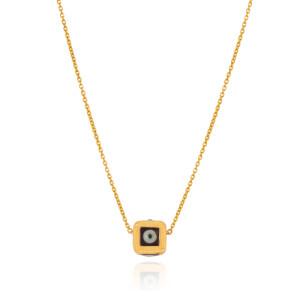 گردنبند طلا طرح تاس کد CN461