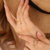 انگشتر طلا طرح فرد نگین دار کد CR511