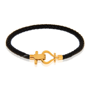 دستبند فراگاما با چرم کد XB815