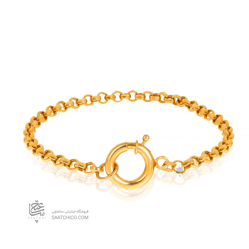 دستبند طلا طرح زنجیری با قفل ملوانی کد CB445