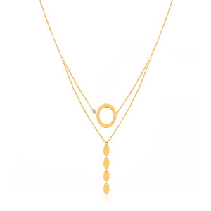 گردنبند ظریف طلا کد LN880