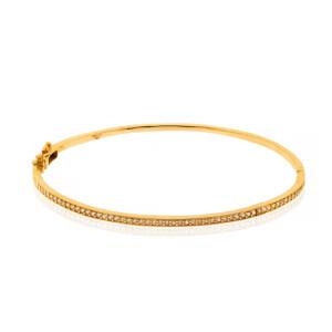 دستبند النگویی طلا طرح Eternity کد CB448