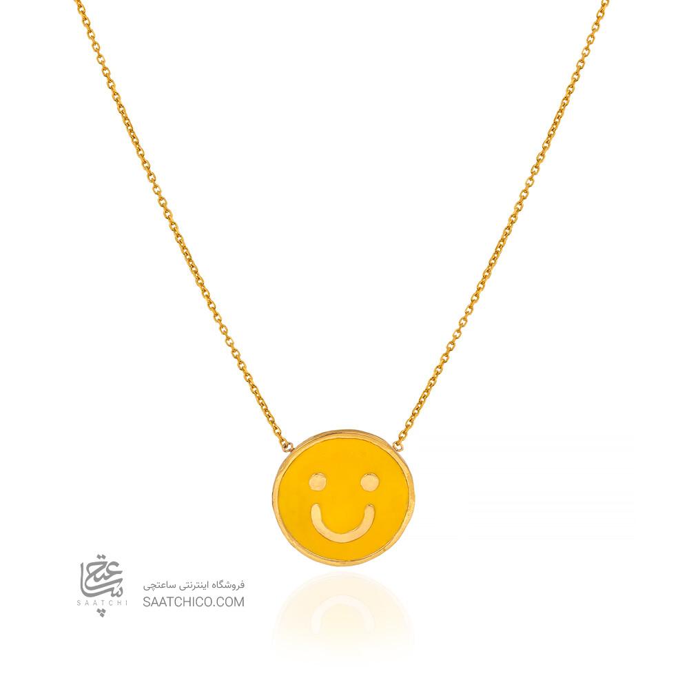 گردنبند طلا کودک طرح لبخند کد KN743