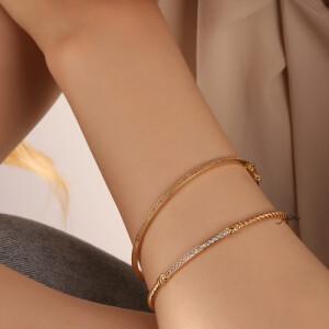دستبند طلا طرح دیوید یورمن کد CB444