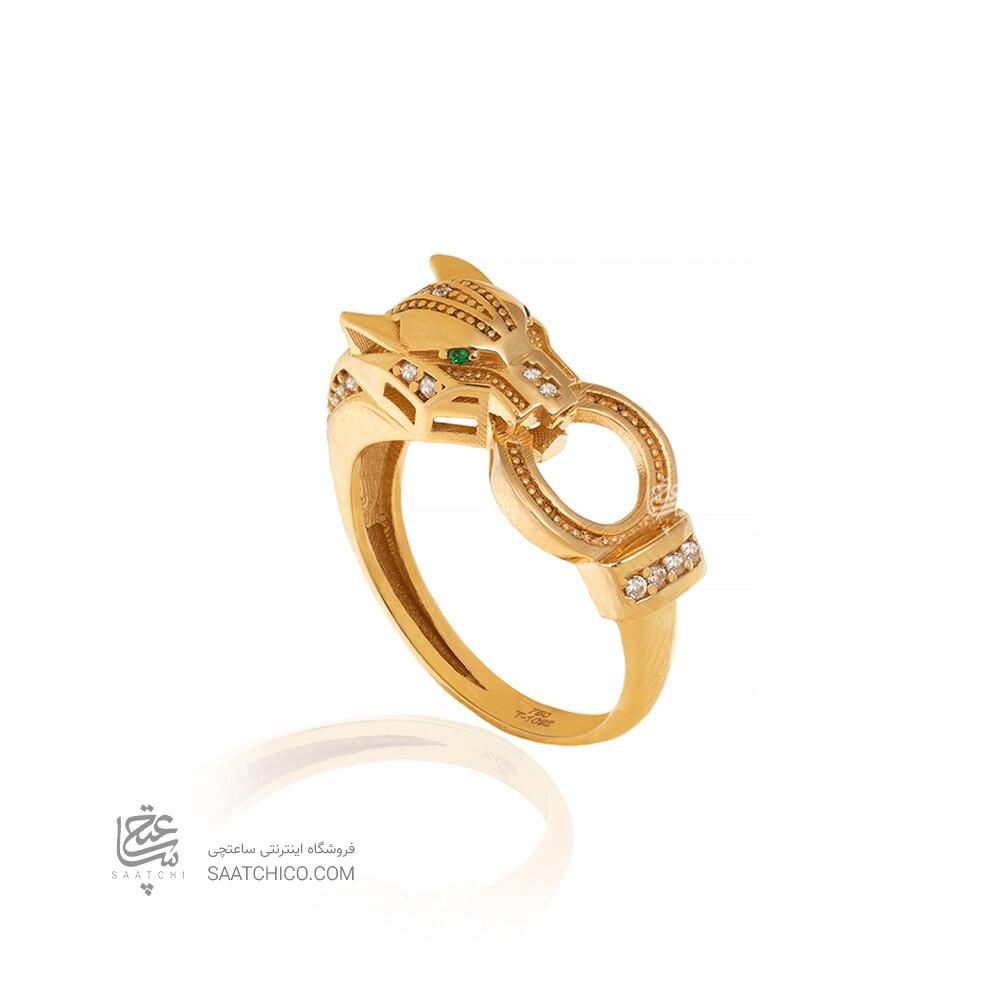 انگشتر طلا طرح پنتر کد CR514