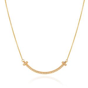 گردنبند طلا طرح لبخند تیفانی کد CN644