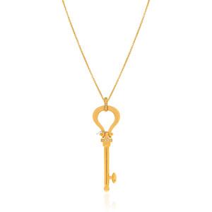 آویز طلا طرح کلید فرد کد CP346