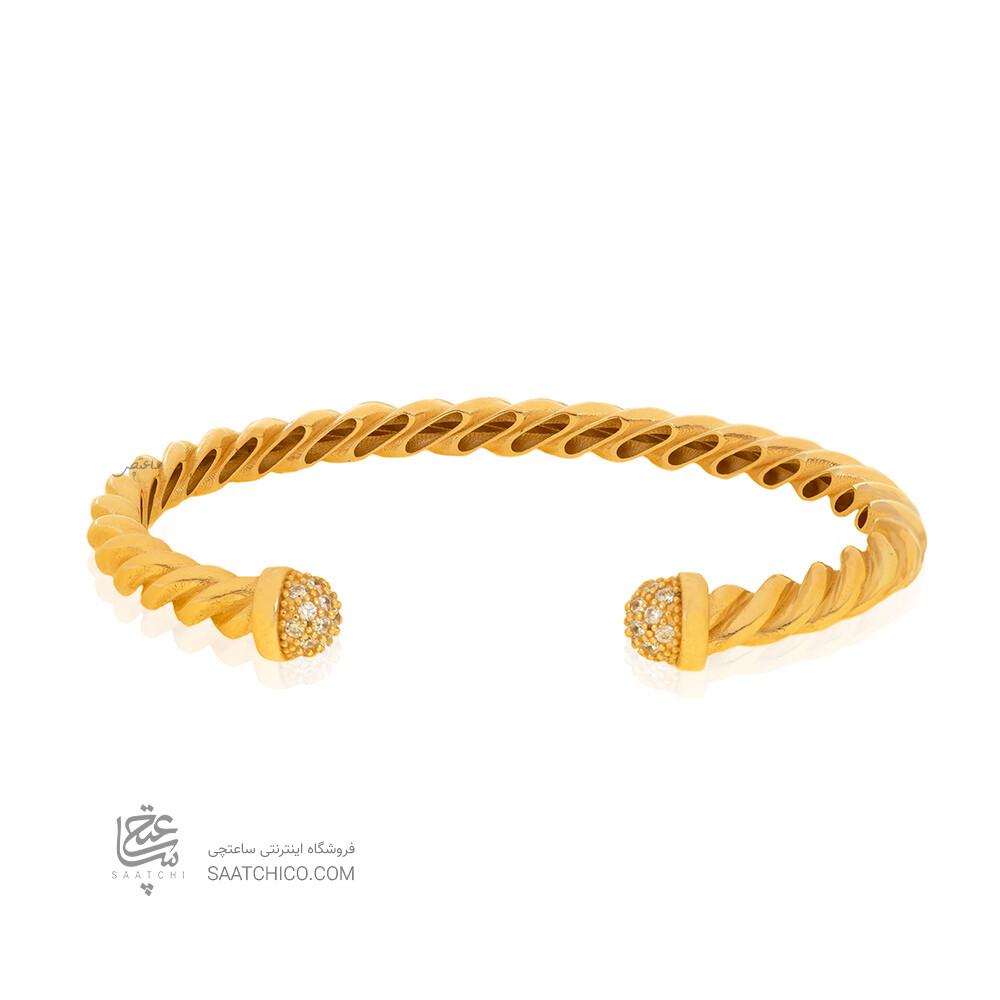 دستبند طلا طرح دیوید یورمن کد CB451