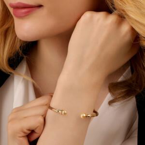 دستبند النگویی طلا کد CB452