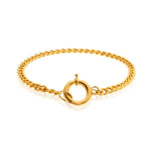 دستبند طلا طرح کارتیه با قفل ملوانی کد CB455