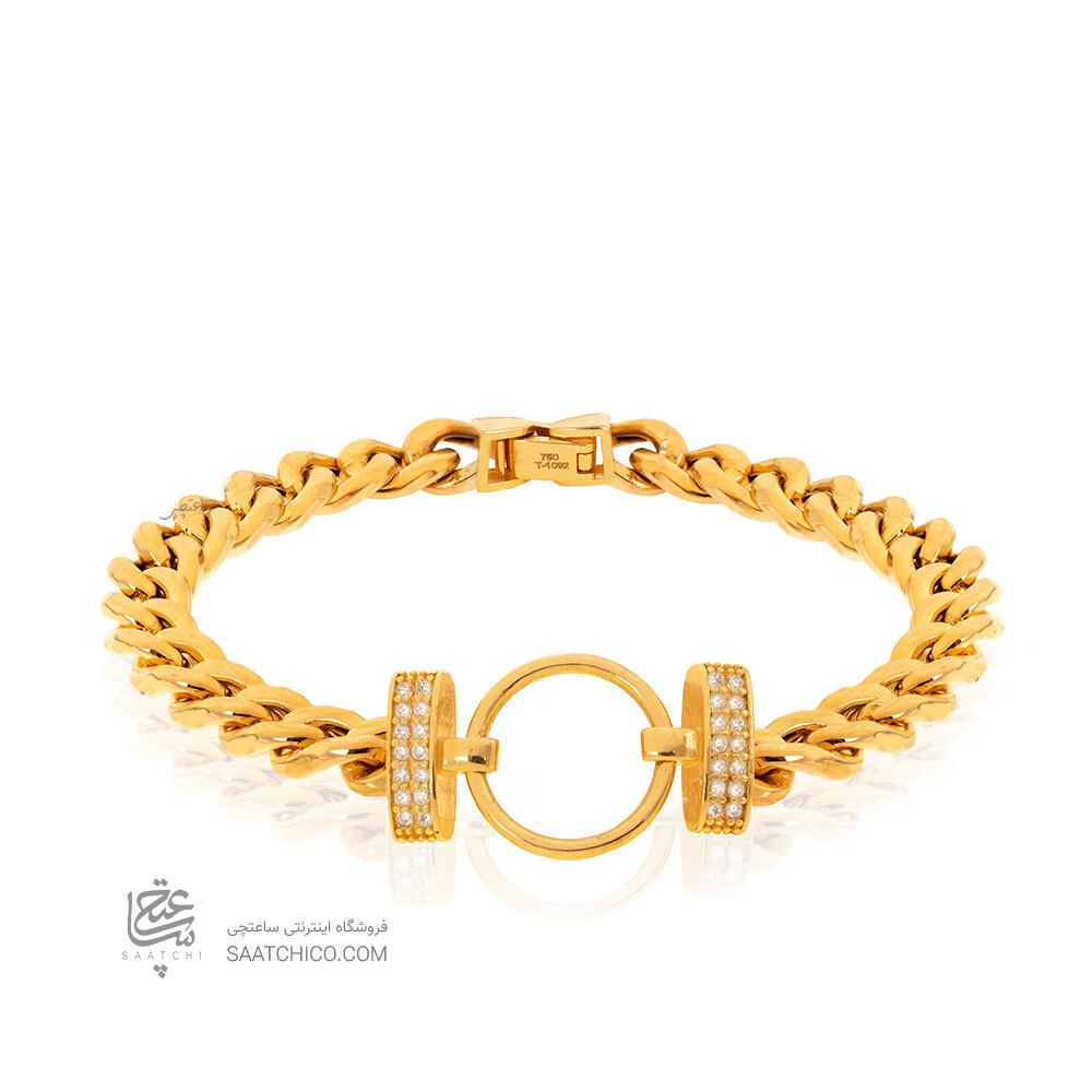 دستبند طلا با زنجیر کارتیه کد CB454