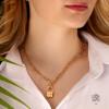 گردنبند زنجیری طلا با قفل ملوانی کد CN645