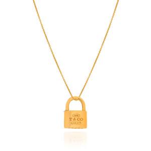 آویز طلا طرح قفل تیفانی کد CP347