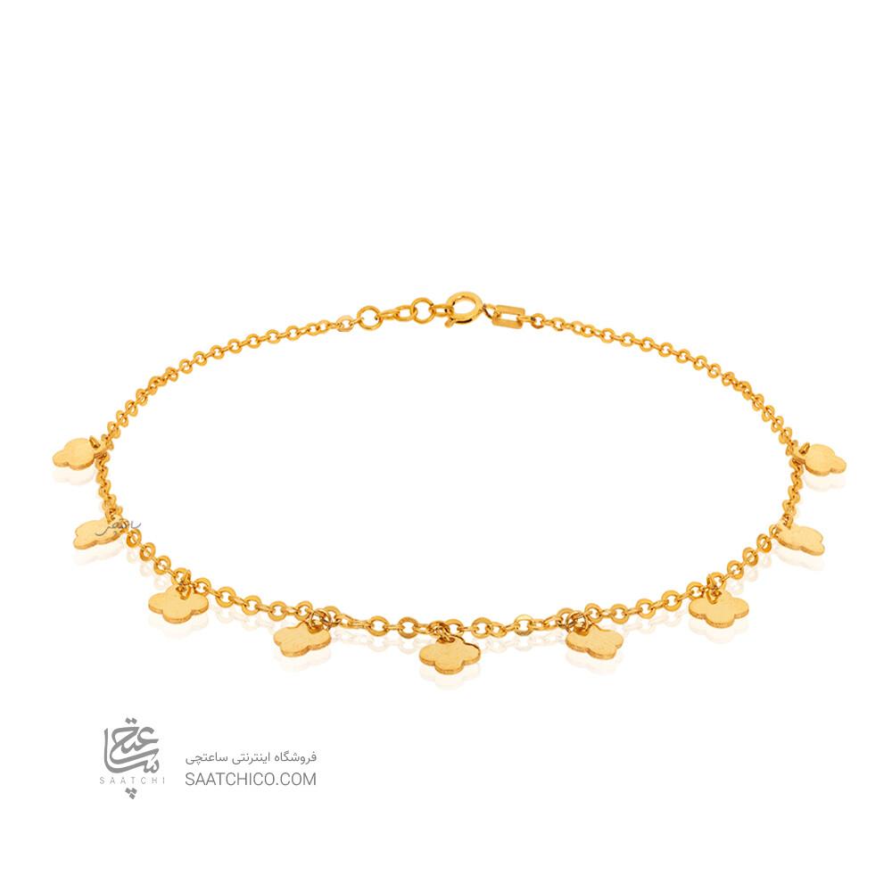 پابند طلا با پلاک های ونکلیف کد LA711