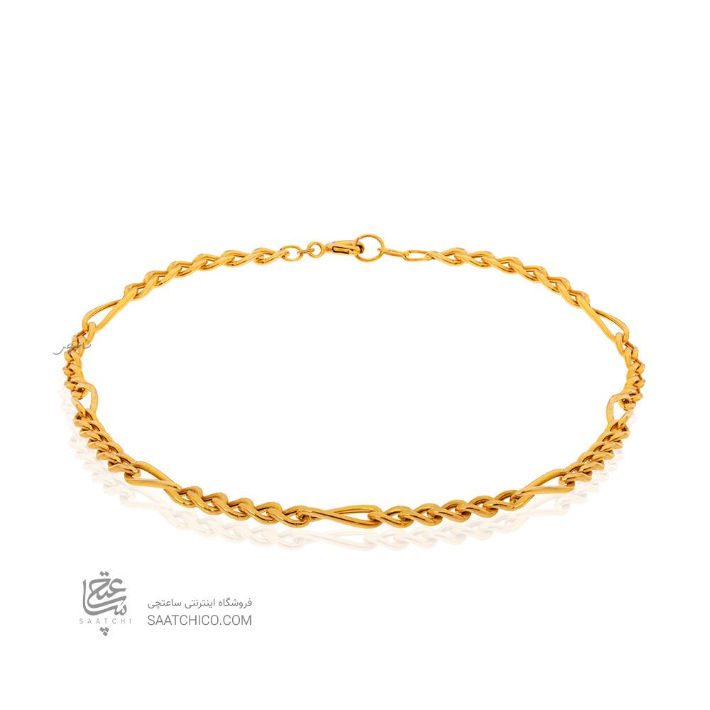 پابند طلا طرح فیگارو کد CA413
