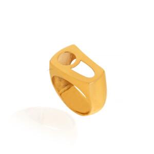انگشتر طلا طرح ه نیمانی کد CR518
