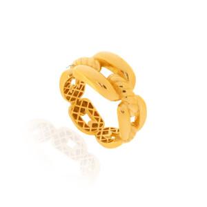 انگشتر طلا طرح دیوید یورمن کد CR521