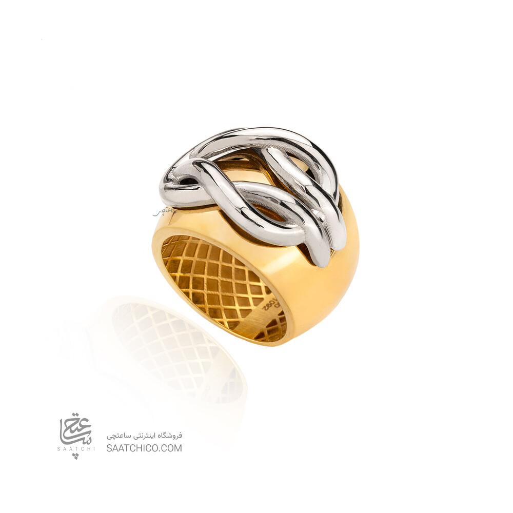 انگشتر طلا با پلاک طرح فرد کد CR524