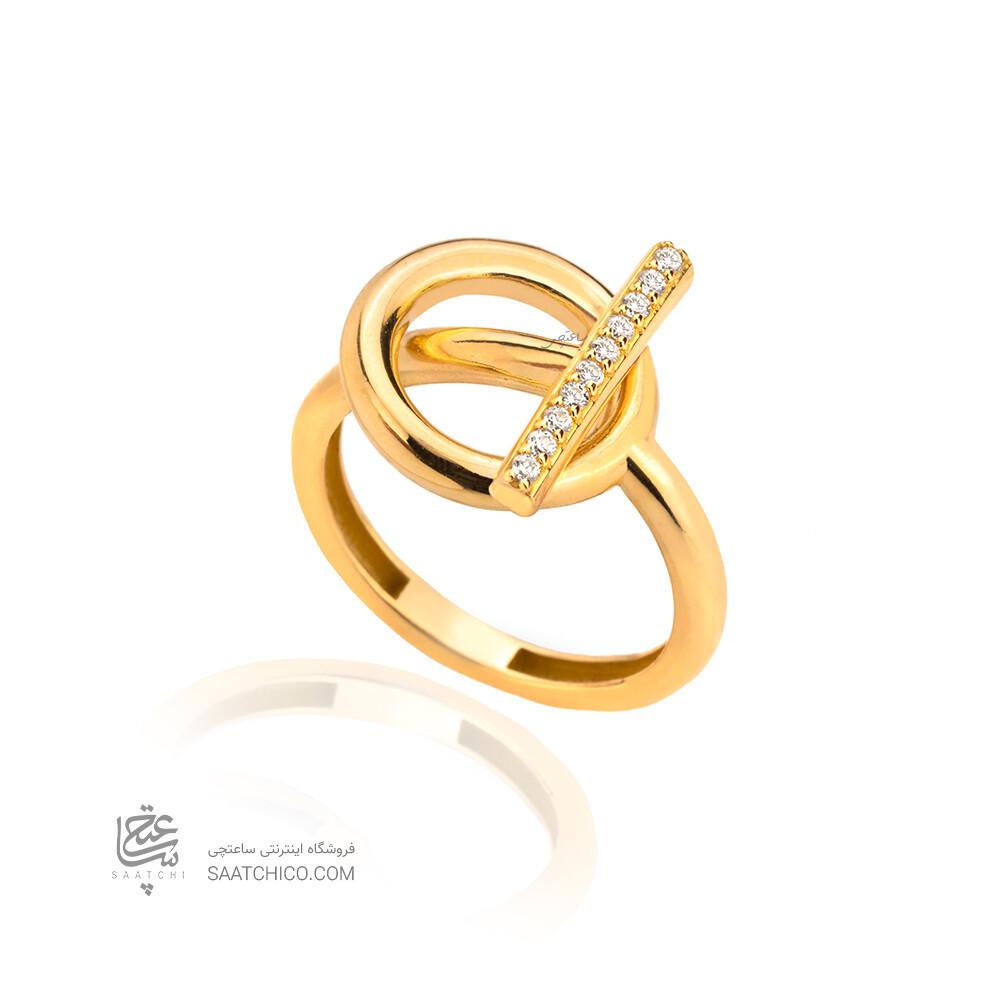 انگشتر طلا طرح هرمس کد CR523