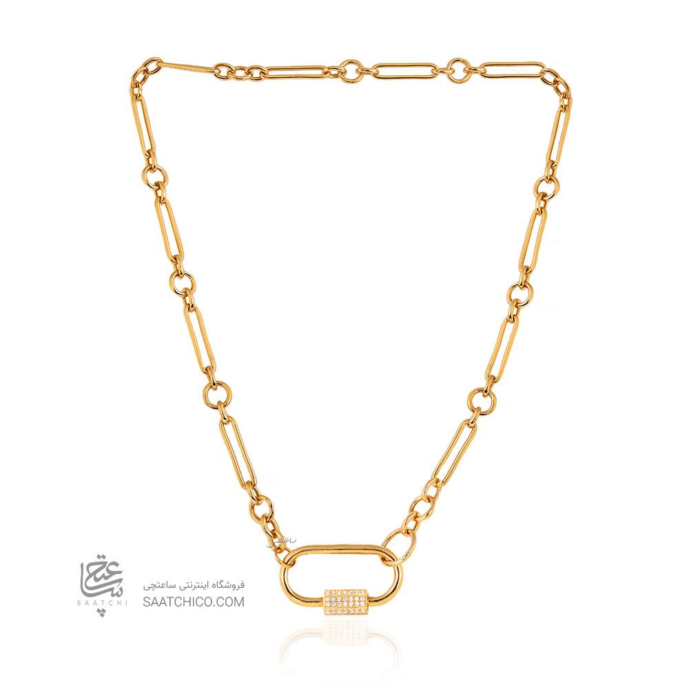 گردنبند طلا با قفل طرح مارلا آرون کد CN463