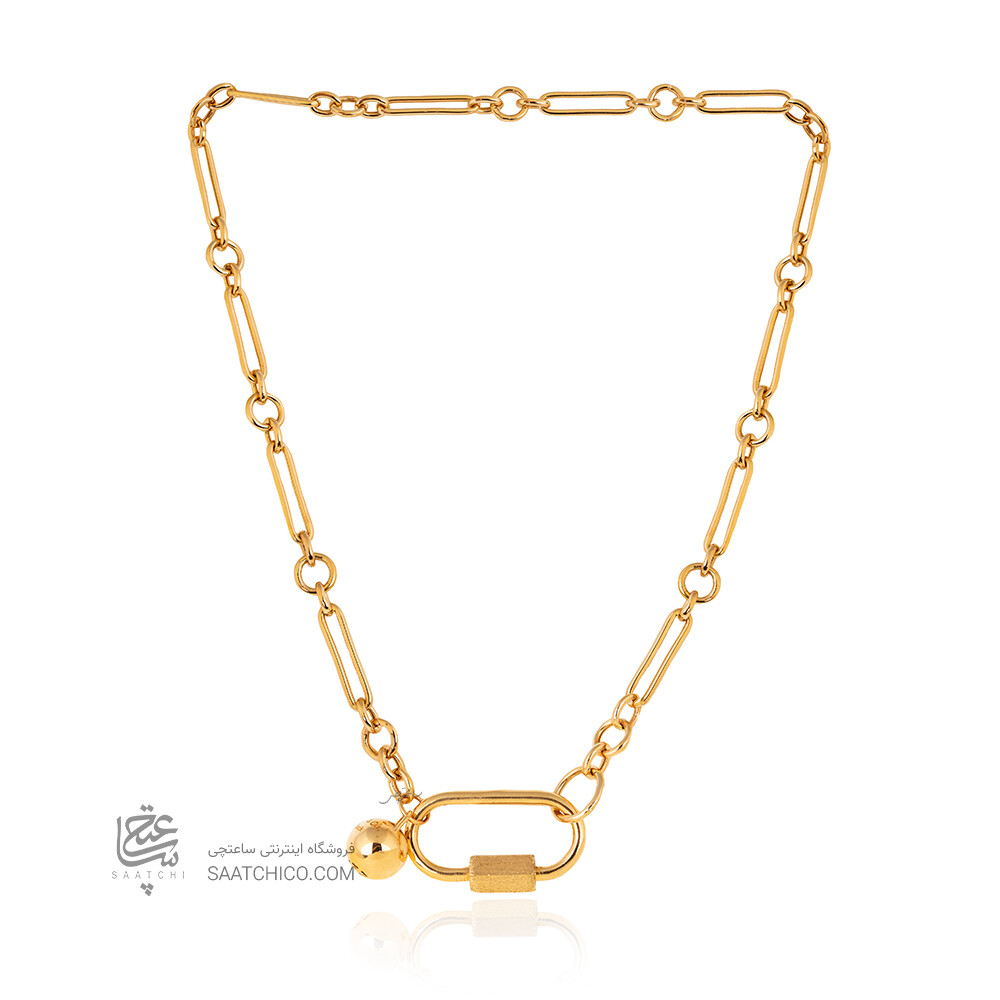 گردنبند طلا با قفل طرح مارلا آرون کد CN464