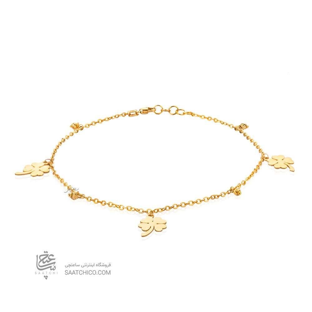 پابند طلا طرح شبدر کد LA713