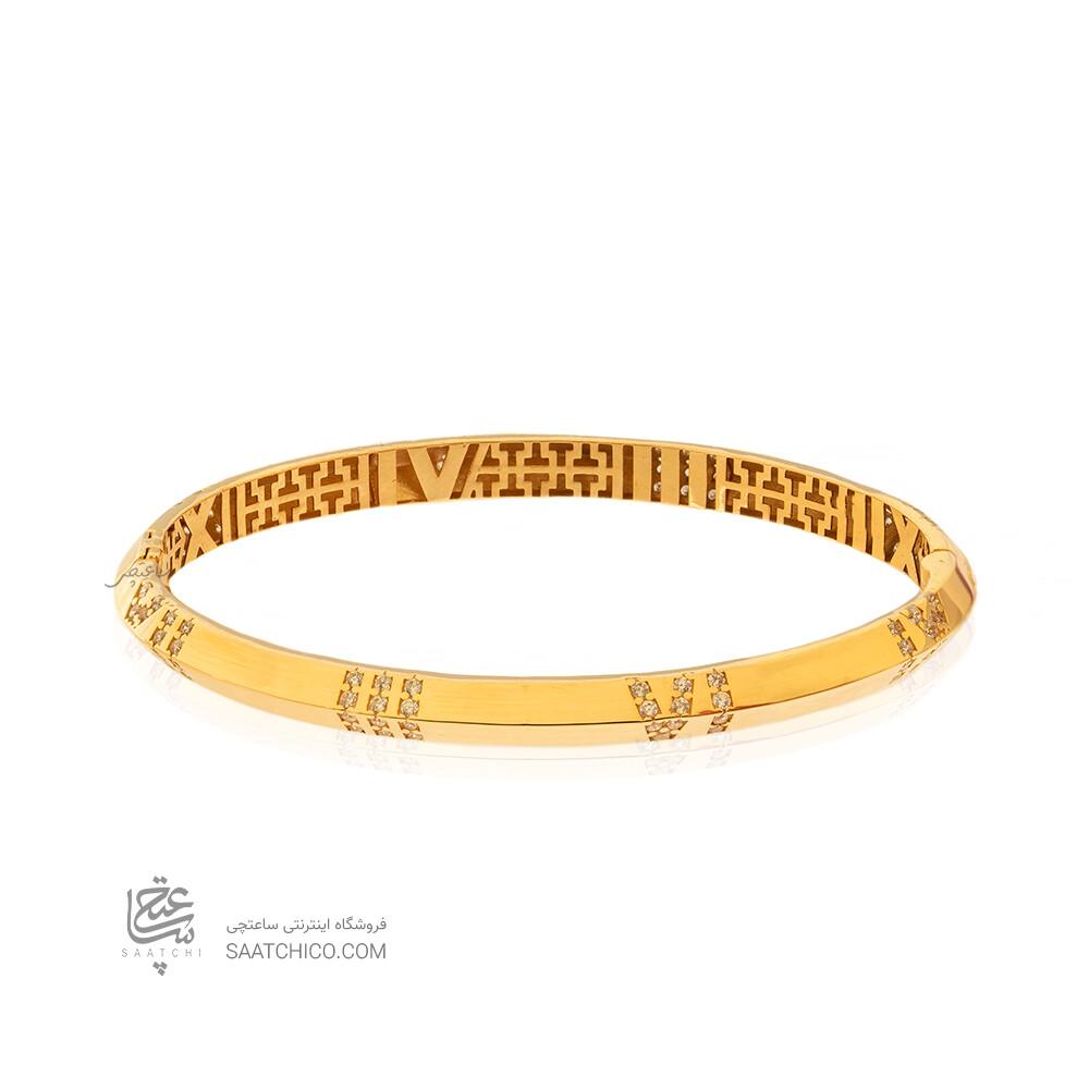 دستبند النگویی طلا طرح اطلس تیفانی کد CB458