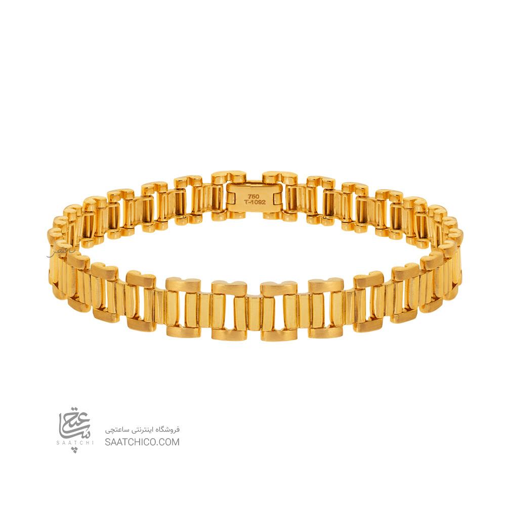 دستبند طلا طرح رولکس کد CB459