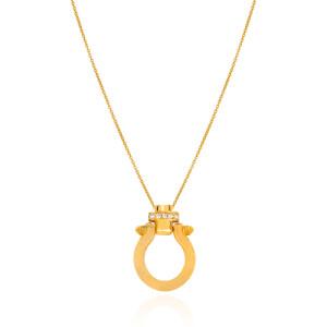 گردنبند طلا با پلاک طرح امگا کد CN466