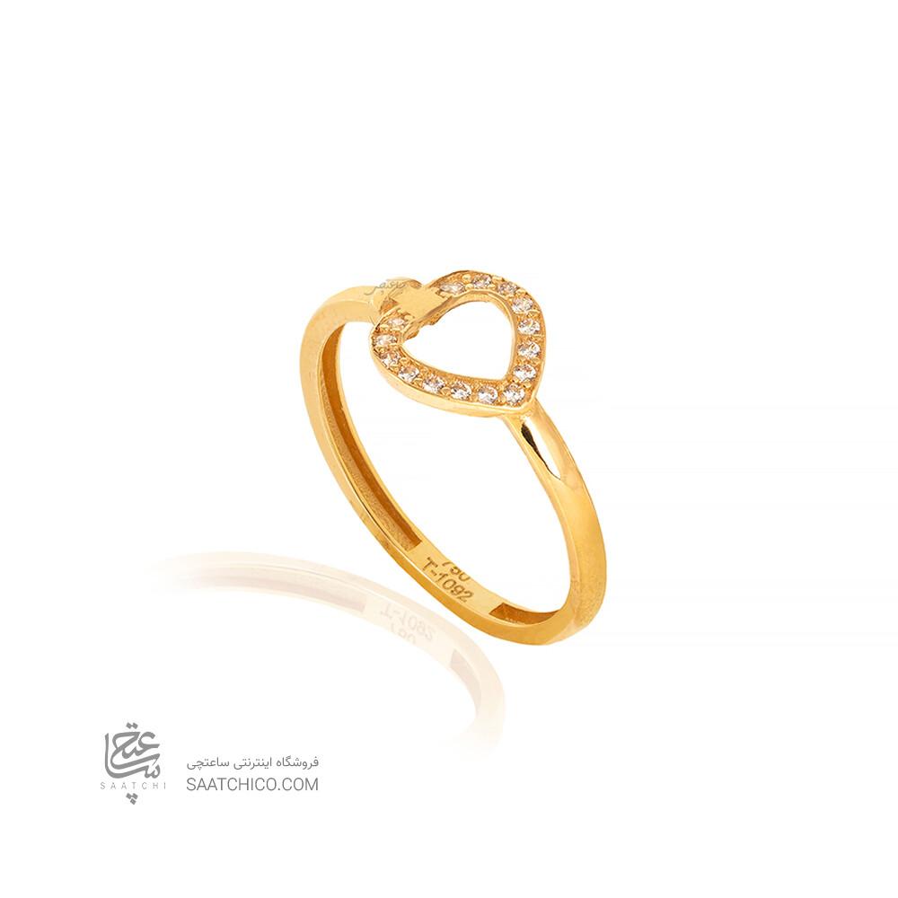 انگشتر طلا طرح قلب فرد کد CR526