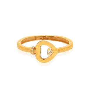 انگشتر طلا طرح قلب فرد کد CR525