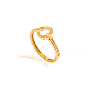 انگشتر طلا طرح قلب فرد کد CR527