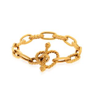 دستبند طلا دیوید یورمن با قفل طرح قلب کد CB460