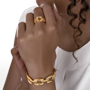 دستبند طلا دیوید یورمن کد CB461