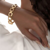 دستبند طلا طرح مربع کد CB463