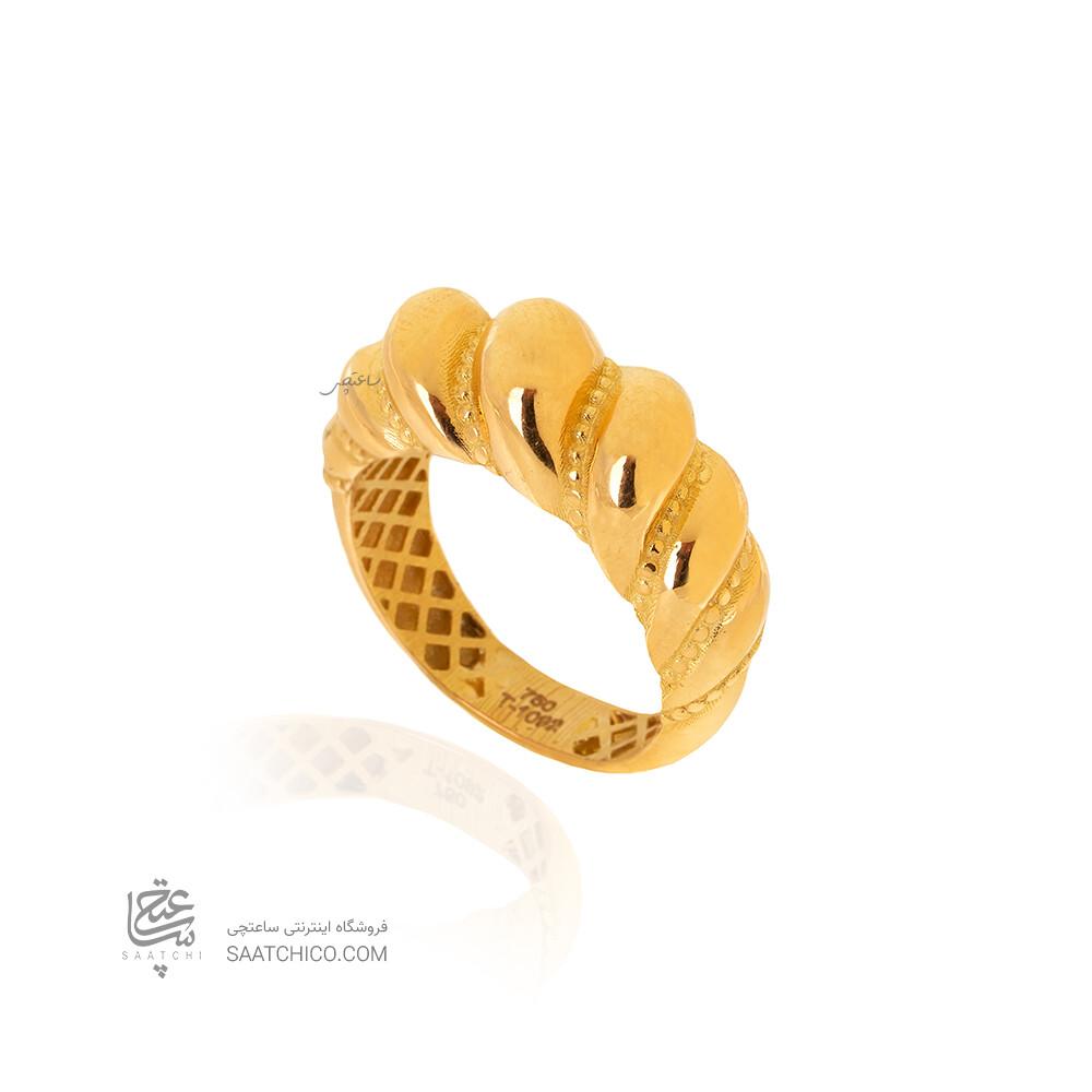 انگشتر طلا طرح کراسان کد CR528
