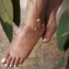 پابند طلا با آویزهای ستاره کد LA714