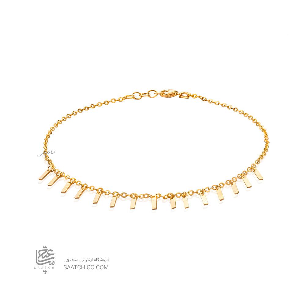 پابند طلا با آویزهای مستطیلی کد LA715