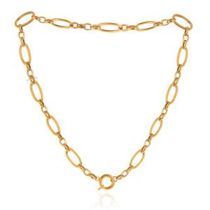 گردنبند زنجیری طلا با قفل ملوانی کد CN468