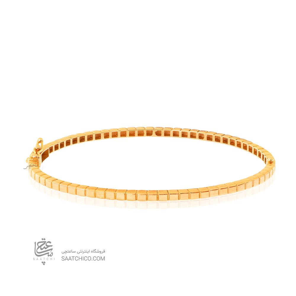 دستبند النگویی طلا طرح شوپارد مدل ساده کد CB464